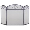 Pilgrim Hearth Forged Crest 3 Panel Iron Fireplace Screen