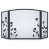 Pilgrim Hearth Forged Floral 3 Panel Iron Fireplace Screen