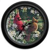 "Reflective Art Classic Wildlife 16"" Country Wall Clock"