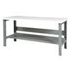 Parent Metal Products Height Adjustable Steel Top Workbench