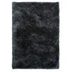 Obsession Oasis Hand-Tufted Coal-Black Area Rug
