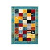 Obsession Folklore Turquoise Area Rug