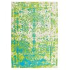 Obsession Maya Green and Blue Area Rug