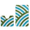Obsession Curve 2-Piece Bath Mat Set
