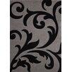 Lalee Handgearbeiteter Teppich France Paris in Schwarz
