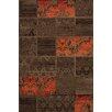 Lalee USA New York Brown and Orange Area Rug