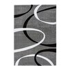 Lalee France Lyon Hand-Woven Silver and Black Area Rug