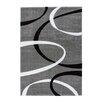 Lalee Handgearbeiteter Teppich France - Lyon in Silber/ Schwarz
