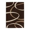 Lalee France Lyon Hand-Woven Mocca and Beige Area Rug