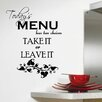 Decal the Walls Today's Menu Kitchen Wall Decal