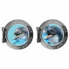 Decal the Walls Laughing Dauphin Pair Porthole Fabric Wall Decal