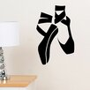 Decal the Walls Ballerina Slippers Wall Decal
