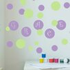 Decal the Walls Poka Dot Circles with Personalized Name Wall Decal