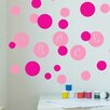 Decal the Walls Polka Dot Circles with Personalized Name Wall Decal
