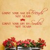 Decal the Walls Count Your Age by Friends Wall Decal