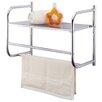 Homebasix Wall Towel Rack with Shelf