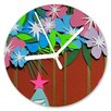 I-like-Paper Analoge Wanduhr Flower Power 13 cm