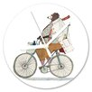 I-like-Paper Bikerbär 13cm Analogue Wall Clock