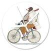 I-like-Paper Analoge Wanduhr Bikerbär 13 cm