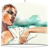 I-like-Paper Woman with Bagaus Tyvek 30cm Lampshade