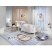 Saint Clair Paris Shaggy Hand-Tufted Blue Area Rug