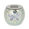 Majestique Solar Mosaic Butterfly 1 Light Tabletop Lantern