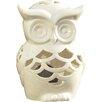 Majestique Owl Ceramic Candlestick