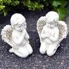 Majestique 2-tlg. Statue Praying Garden Angels