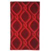 TheRugRepublic Cable Hand-Tufted Red Area Rug