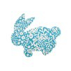 TheRugRepublic Handgetufteter Innenteppich Bunny in Blau/Elfenbein