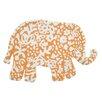 TheRugRepublic Handgetufteter Innenteppich Appu in Orange/Elfenbein