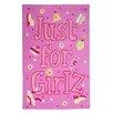 TheRugRepublic Handgetufteter Motivteppich JFG in Rosa