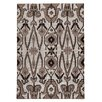 TheRugRepublic Rabat Hand-Knotted Taupe/Black Area Rug