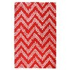 TheRugRepublic Comet Hand-Tufted Red Area Rug