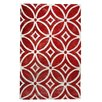 TheRugRepublic Waiko Hand-Tufted Red Area Rug