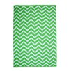 TheRugRepublic Zen Hand-Loomed White/Green Area Rug