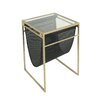 Sagebrook Home Metal & Glass & Vinyl End Table