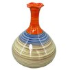 Sagebrook Home Kiara Striped Gourd Vase