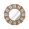Sagebrook Home Wood Mirror with Metal Accents