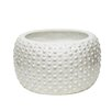 Bryleigh White Decorative Ceramic Pot Planter - Size: 7 inch High x 12 inch Wide x 12 inch Deep - Corrigan Studio Planters
