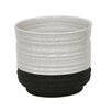 Driskell Decorative Ceramic Pot Planter - Size: 5 inch High x 6 inch Wide x 6 inch Deep - Color: White - Brayden Studio Planters