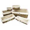 Wee's Beyond 6 Piece Rattan Storage Basket