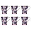 Portobello by Inspire Buckingham Ebony Bone China Mug (Set of 6)