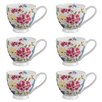 Portobello by Inspire Footed Aiyanna Fine Bone China Mug (Set of 6)