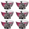 Portobello by Inspire Footed 500 ml Zen Garden Fine Bone China Bowl (Set of 6)