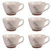 Portobello by Inspire Stafford Wildlife Fox Stoneware Mug (Set of 6)