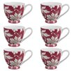 Portobello by Inspire Footed Lexi Fine Bone China Mug (Set of 6)