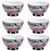 Portobello by Inspire Footed 500 ml Kazumi Fine Bone China Bowl (Set of 6)