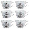 Portobello by Inspire Wilmslow Kind and Happy Bone China Mug (Set of 6)