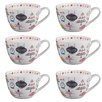 Portobello by Inspire Wilmslow Patisserie Bone China Mug (Set of 6)